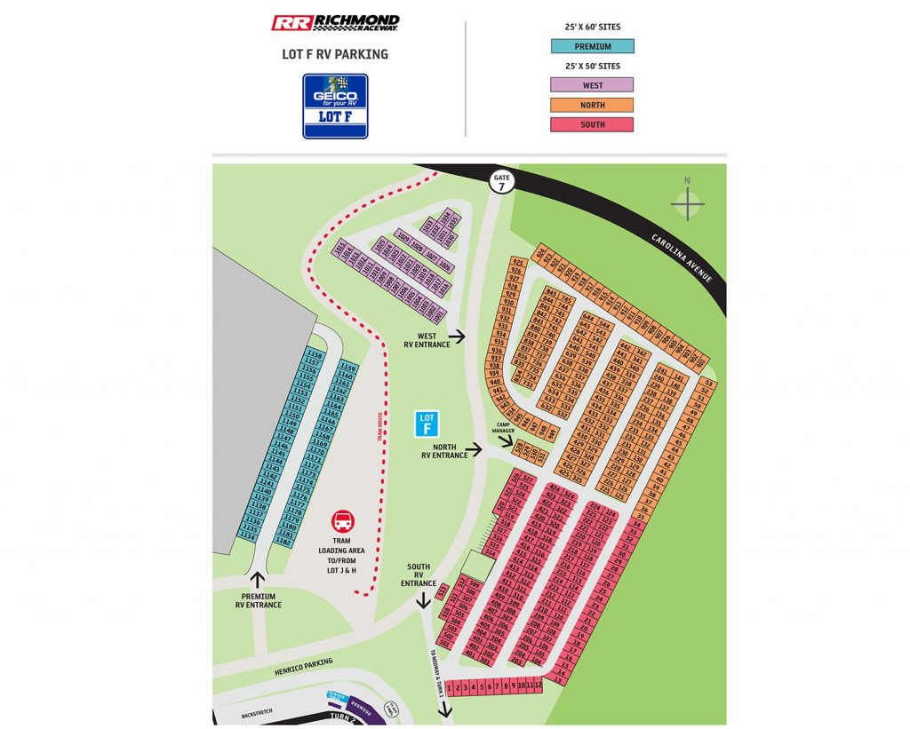 Lot F Campground Map